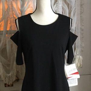 Black dress drop sleeve